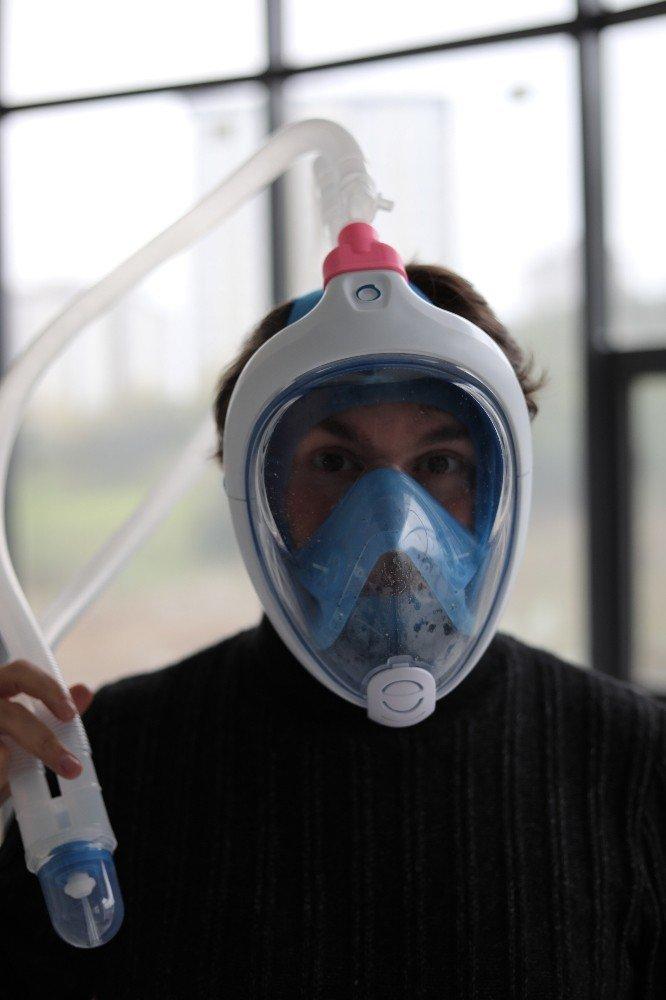 Düzce Üniversitesi, yeni tip virüse yeni tip maske