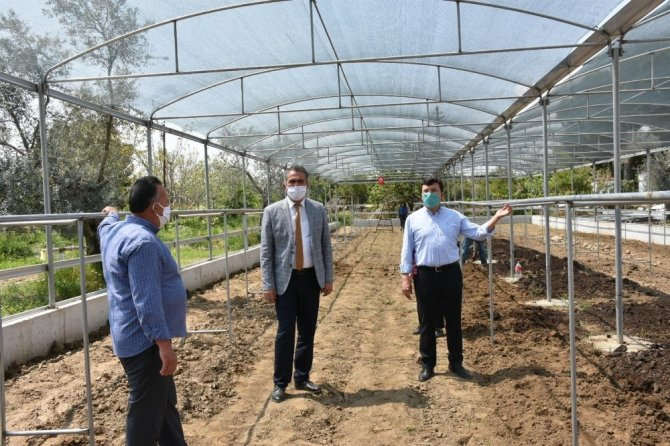 Kaymakam Şahin tarım üreticilerini ziyaret etti