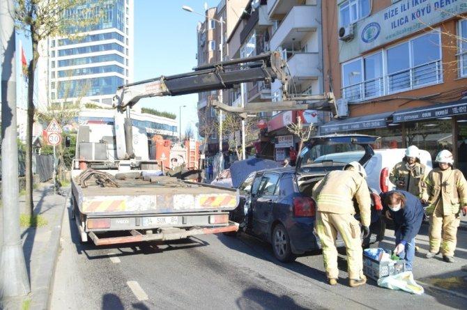 Mecidiyeköy'deki kaza kamerada