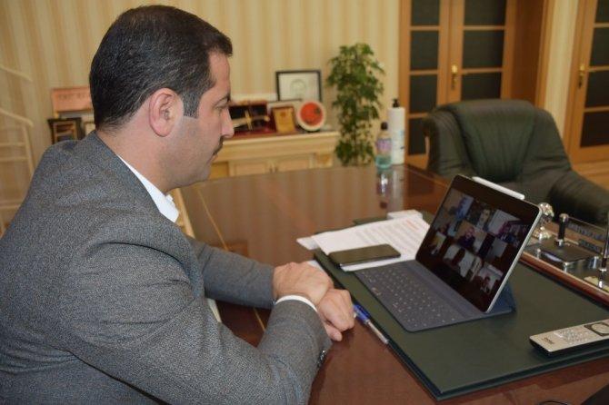 Başkan Geylani'den telekonferans yoluyla görüşmeler
