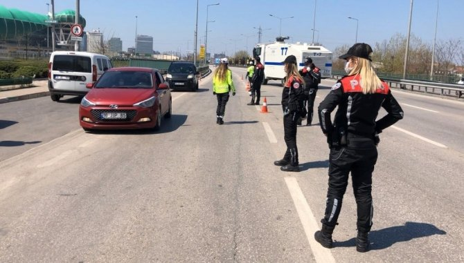 Bursa'da 72 saatlik kısıtlama bilançosu