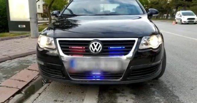 Çakar lamba bulunan araç sürücülerine 5 bin TL ceza