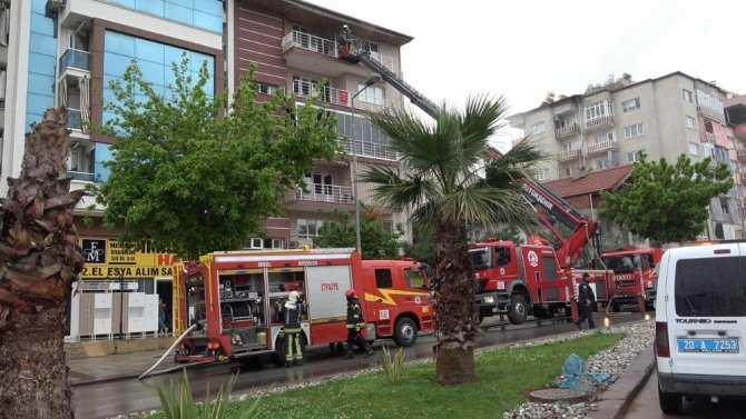 Tüpten sızan gaz yangına neden oldu