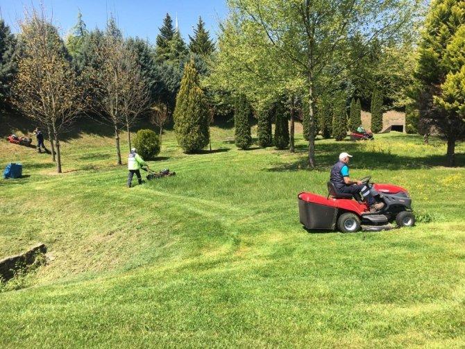 Kent genelindeki yeşil alanlar temizleniyor