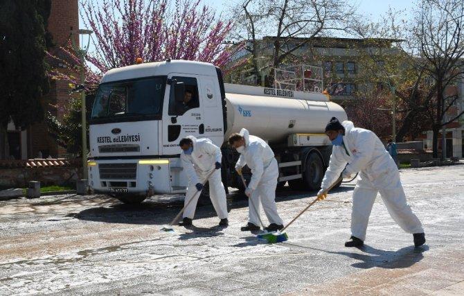 Kestel'de dezenfekte çalışmaları aralıksız sürüyor