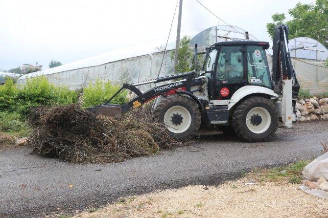 Erdemli'de çiftçilerin bahar temizliğine belediye desteği