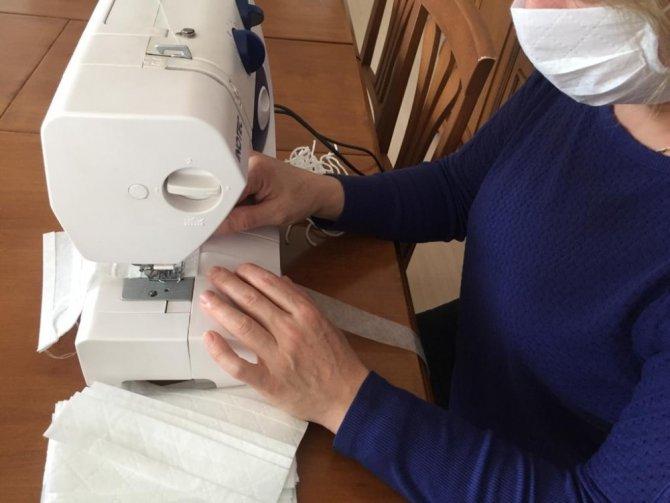 Kadın konukevinde maske üretimi yapılıyor