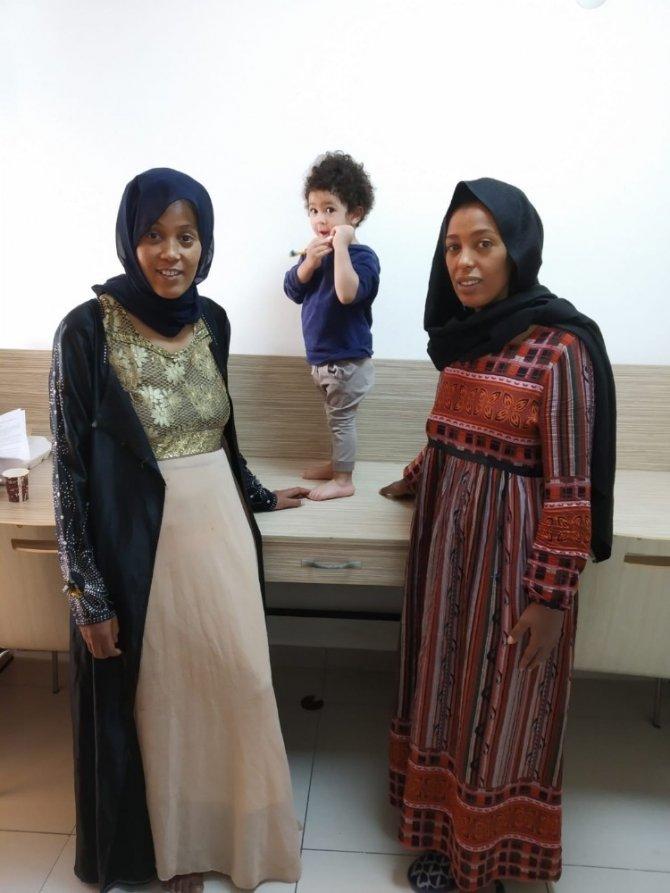 Kayseri'de karantinadaki Etiyopyalı kadınlardan Cumhurbaşkanına teşekkür
