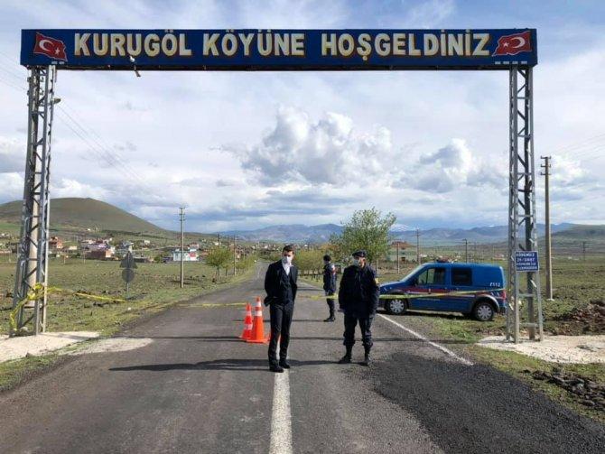 Kaymakam Koyuncu, karantinadaki Kurugöl köyünde incelemelerde bulundu
