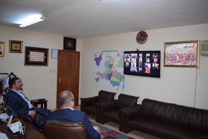 MHP'de Telekonferans ile KOVİD toplantısı