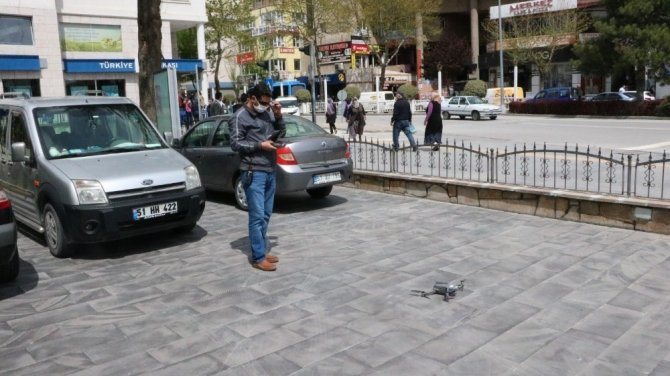 Niğde'de 'Drone' ile sosyal mesafe denetimi