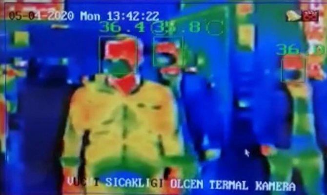 Otellerde termal kamera hareketliliği
