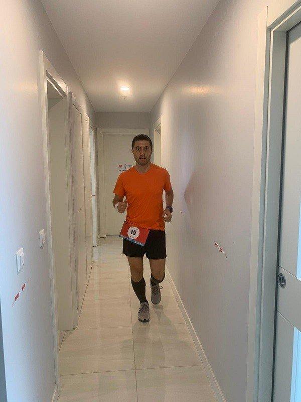 Aksa Akrilik CFO'sundan evde maraton denemesi