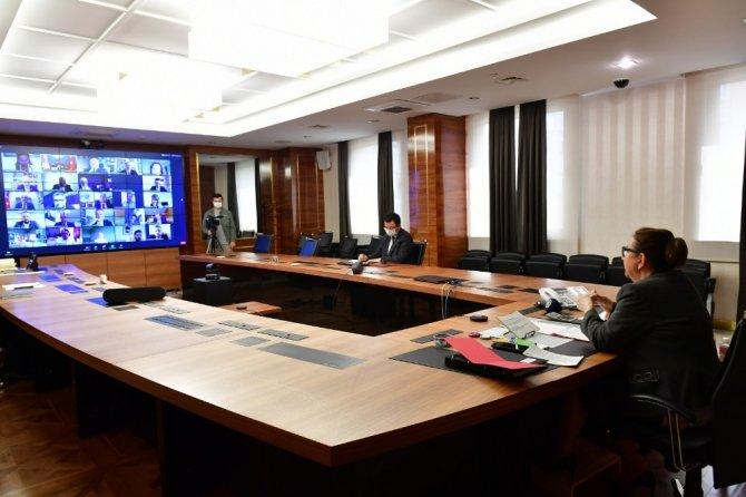 Bakan Pekcan, AB Ülkeleri İş Konseyi Başkanları ile görüştü