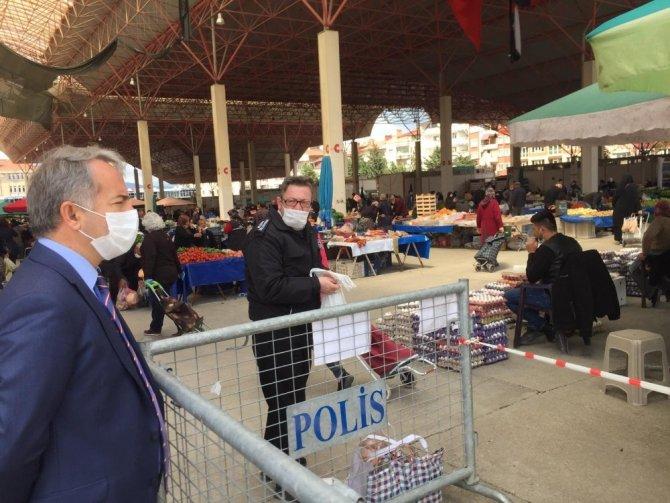 Burdur'da pazar yerine termal kamera