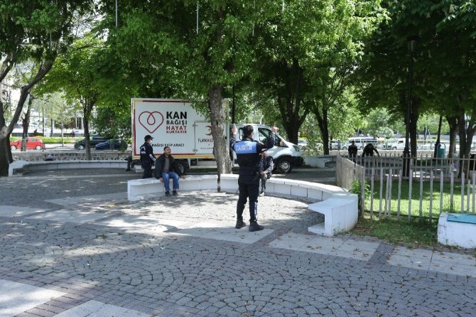 Gaziantep'te sosyal mesafe denetimi