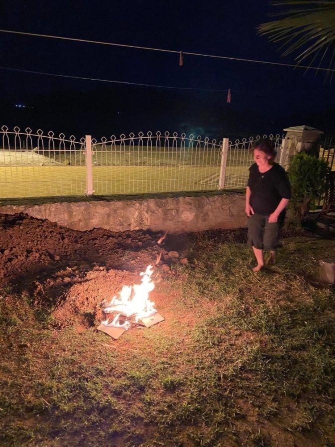 Hıdrellez kutlamalarının davetsiz misafiri olan domuz korkuttu
