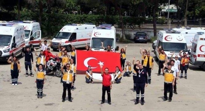 Aydın 112 personellerinden 'Sarı Kahramanlar' klibi