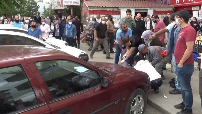 Markette karşılaştığı husumetlisini bacağından vurdu