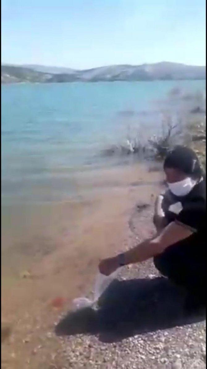 Konya'da göle balık bırakan esrarengiz Amerikalı, bu kez bomba paniğine neden oldu