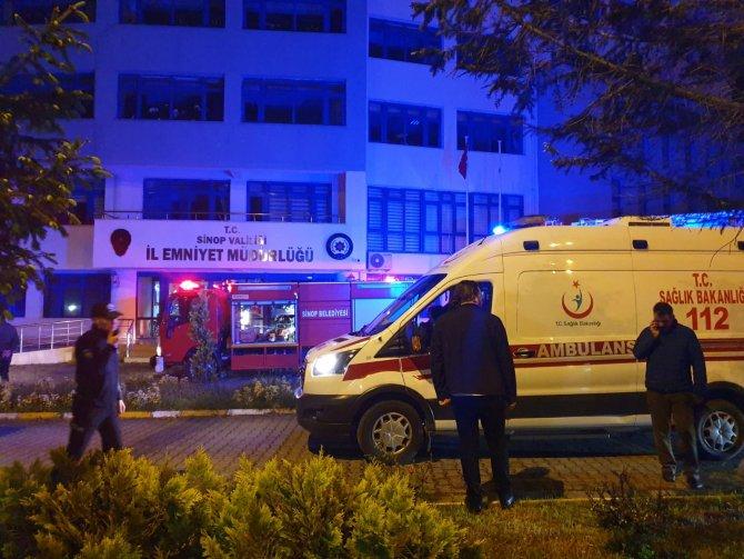 Sinop'ta emniyet müdürlüğünde yangın