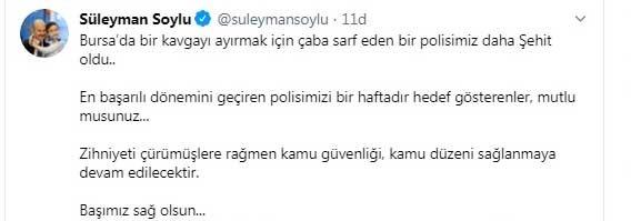 Bursa'dan acı haber: 1 polis memuru şehit oldu