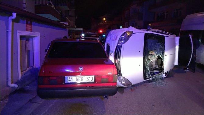 Tartıştığı kişinin üzerine otomobilini sürerken kaza yaptı!