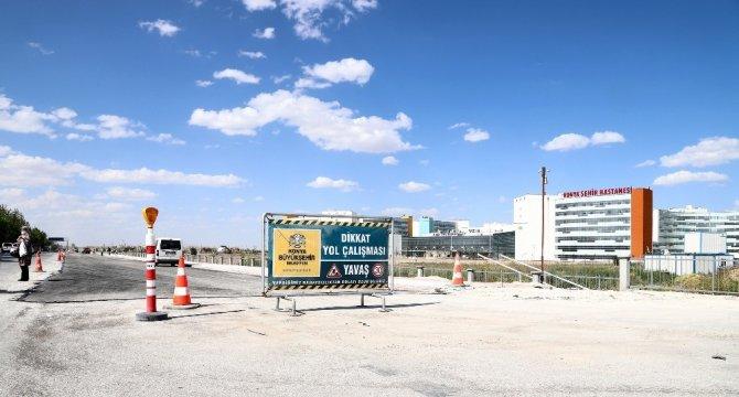 Konya Şehir Hastanesinin ana giriş yolu tamamlandı