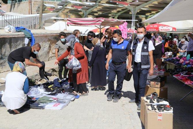 Hadim'de polis ve zabıtadan pazar denetimi