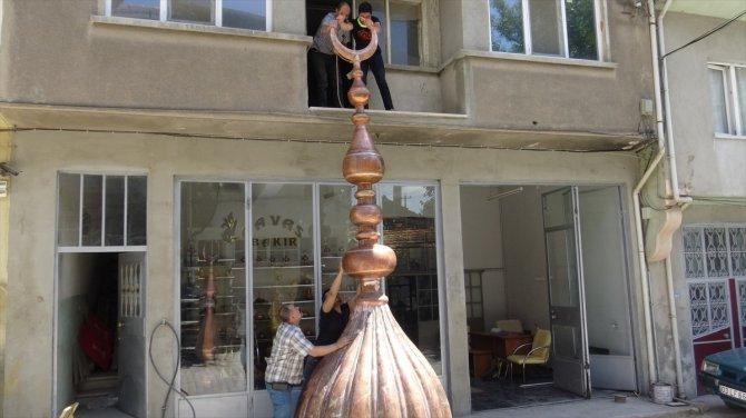 Devasa alem Konya'daki Kurtuluş Ulu Camii için yapılıyor