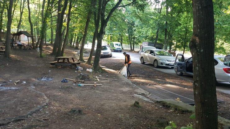 Belgrad ormanı ve sahil şeridi çöplüğü döndü; Ormandan iki günden 29 ton çöp toplandı