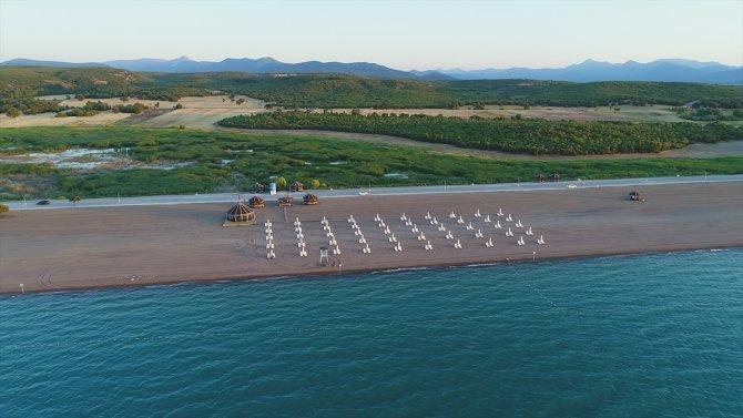 Beyşehir Gölü'ndeki Karaburun Plajı hizmete açıldı