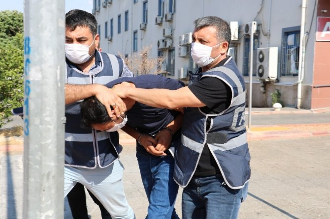 Hırsızlıktan tutuklandı gazetecileri tehdit etti