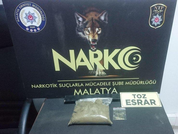 Malatya'da uyuşturucuya 4 tutuklama