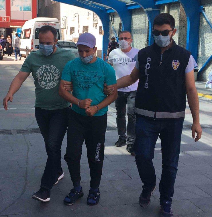 Poliste 155 kaydı bulunan Abdullah hırsızlıktan tutuklandı