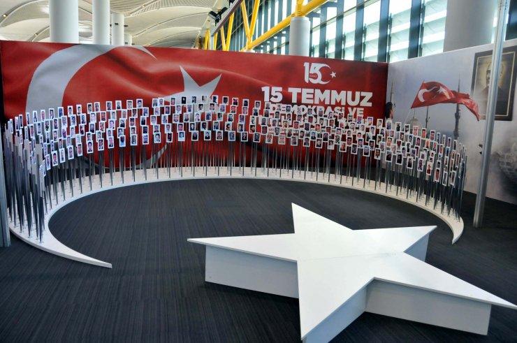 İstanbul Havalimanı'nda 15 Temmuz sergisi