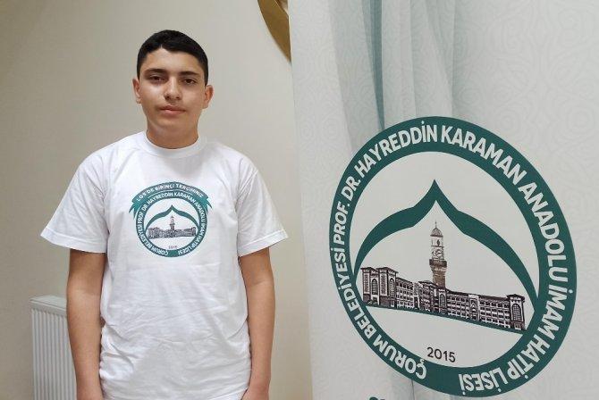 4 yaşında okumayı öğrendi, 11 ayda hafız olup LGS'de Türkiye birincisi oldu