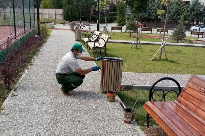 Çankaya parklarına bakım ve onarım