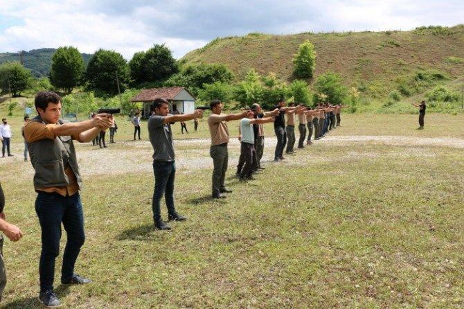 Düzce'de orman personeli atış eğitimini tamamladı
