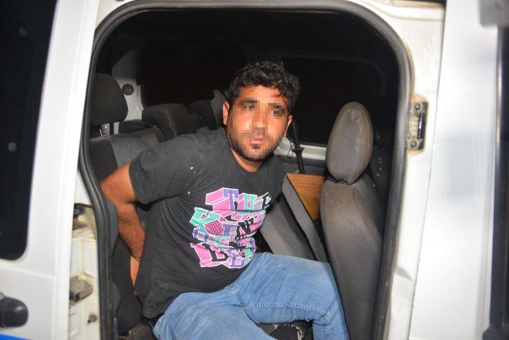 Ehliyetsiz sürücü, kovalama sonucu yakalandı