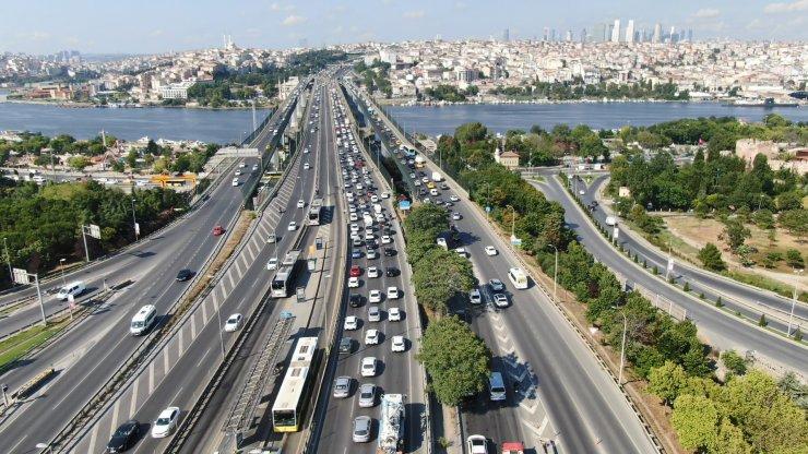 Haliç Köprüsü'nde trafik yoğunluğu