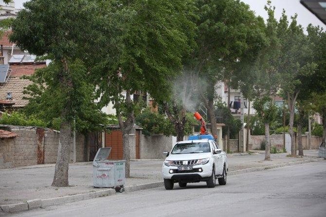 Meram Belediyesi ilaçlama çalışmalarına devam ediyor