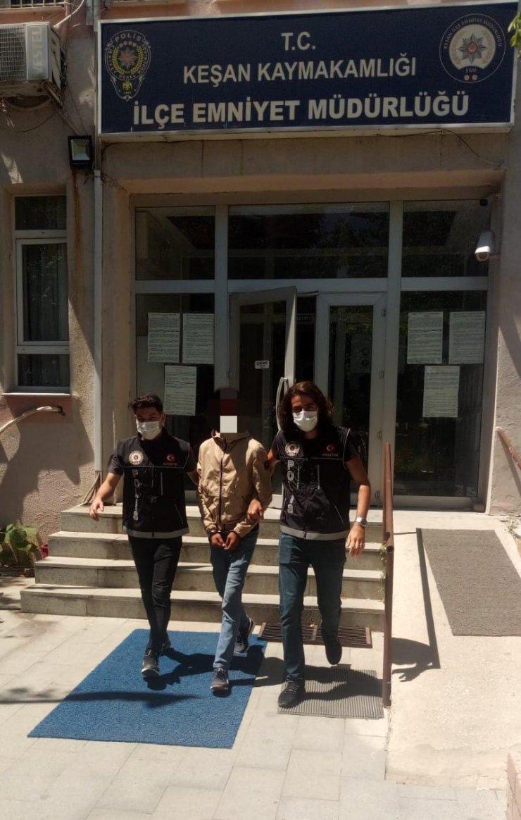 Bekçilerin suçüstü yakaladığı uyuşturucu satıcısı tutuklandı
