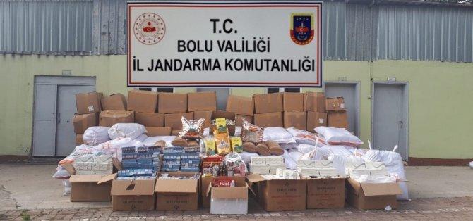 Bolu'da 5.5 ton kaçak tütün ve cinsel uyarıcı hap ele geçirildi: 2 gözaltı