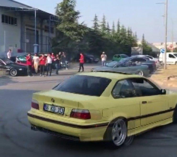 Bursa'da 3 kişiye 18 bin TL 'drift' cezası