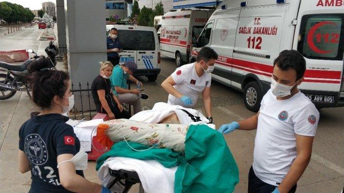 Ev yangınında 93 yaşındaki kadın ağır yaralandı