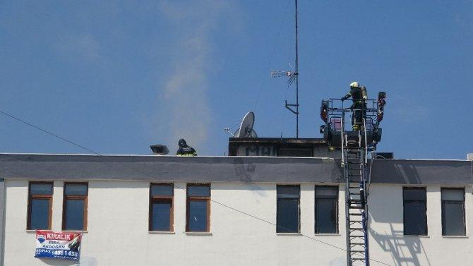 Samsun'da baca yangını korkuttu