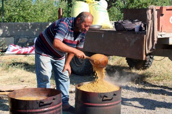 Yozgat'ta kazanlar bulgur için kaynıyor
