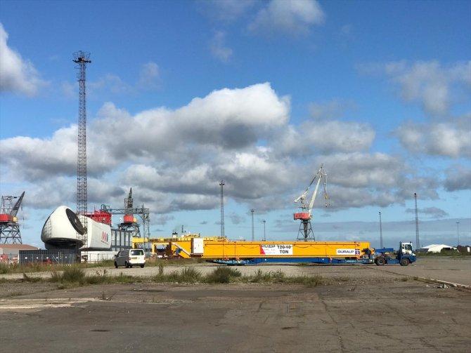 Danimarka'nın rüzgar türbinlerinde Türkiye'nin vinçleri hizmet veriyor
