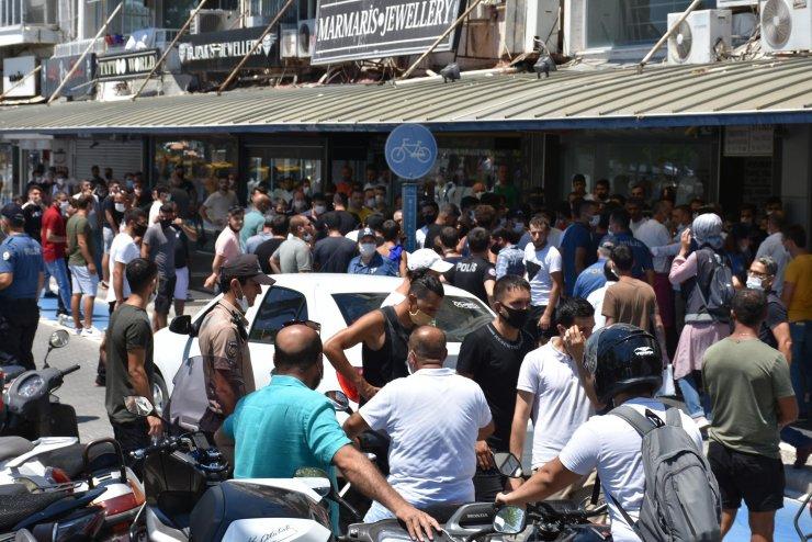 Marmaris'te sahte marka denetimine esnaftan alkışlı protesto